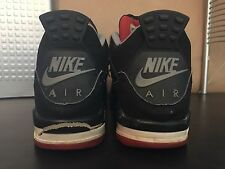 1999 Nike Air Jordan OG Original Retro 4 IV Bred Black Cement Rare 1989 Sz 11.5