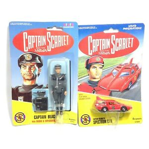 Vintage Captain Scarlet Captain Black Action Figure & Car