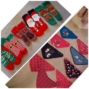 Christmas Baby Dribble Bibs and socks Bundle