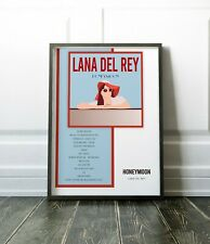 Custom Lana Del Rey Honeymoon Tracklist Poster