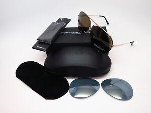 Authentic Porsche Design P'8478 A Light Gold P8478 Sunglasses 66mm