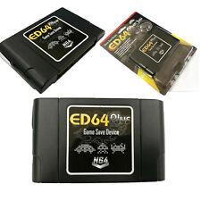 ED64 Plus Game Save Device Cartridge +8GB SD Card USA-JAPAN-EUROPE N64 GAMES US