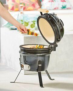ALDI Gardenline Mini Kamado BBQ Ceramic Egg Barbecue Grill Outdoor Cooking NEW🔥