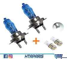 Kit Ampoule Blanche H7 ! Effet White xenon Blue (6000K 55w) + 2 LED W5W Blanc CE