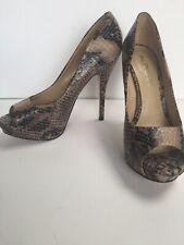 Aldo Snakeskin Print Shoes Size 5 Eu 38