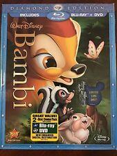 Bambi Blu-ray/DVD 2011 2-Disc Set Diamond Edition NEW + COVER SLEEVE