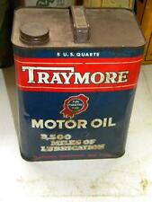 Old Traymore 2 Two Gallon Gas Station Motor Oil Can
