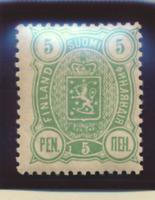 Finland Stamp Scott #39, Mint Never Hinged, Mottled/Browning Complete Orig Gum