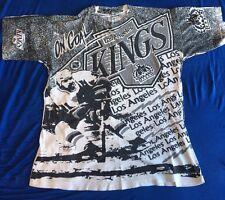 Vtg 1991 Los Angeles LA Kings NHL Hockey All Over Print T Shirt Size Large