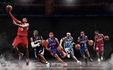 "Allen Iverson Basketball Star Fabric Poster 40"" x 24"" Decor 27"