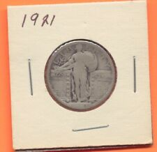 1921 Silver Liberty Standing Quarter 25 Cents US Coin Philadelphia