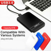 2.5''  6TB External Hard Disk Drive USB 3.0 Data Transfer HDD Box Case Black
