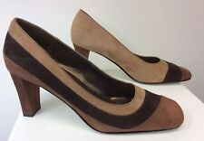 Women's Moda Spana Shoes Heels Size 7 M Suede Leather Brown