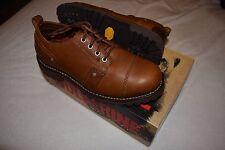Wolverine 1883 Men's Wyatt Oxford W06457 Brown Leather Shoes Size 8 EW New w Box