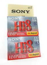 2 New Sony Hi8 Blank Camcorder Video Cassette Tape Digital8 Hi8 60 120 8mm