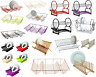 Foldable Dish Drainer Plastic Metal Wooden Plates Cutlery Drying Rack Holder New