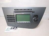 Stereo Autoradio Radio CD Mp3 Seat Leon 2008 Blaupunkt 1P1035186 N87