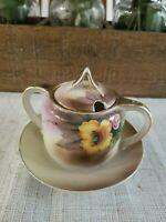 Vintage Noritake Hand Painted Sugar Bowl