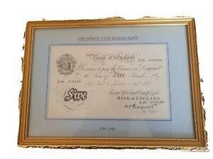 White Five Pound Note Peppiat Signature