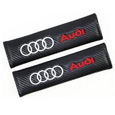 Carbon Fiber Car Seat Belt Soft Shoulders Pad Cushion Truck Cover 2pcs for Audi