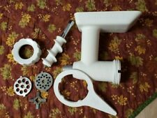 COMPLETE LOT OF KITCHENAID STANDING MIXER ATTACHMENTS--MEAT GRINDER
