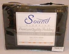 Sound Sleeping 4-Piece Brushed Microfiber Bed Sheet Set King Black