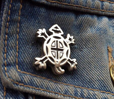 Native American Tortoise Turtle Design Pewter Pin Badge