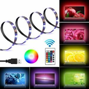 Waterproof USB Powered 5V RGB LED Strip Lights Backlight for LCD TV PC Computer