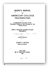 American Fraternities Manual (Baird's)  - VA History
