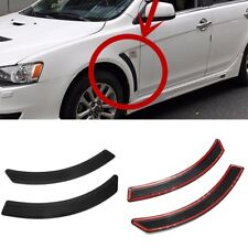 Side Vent Black Cover Carbon Fiber Look Front Fender For Mitsubishi Lancer 08-15