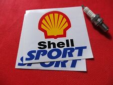 """Pair of 4"""" Shell sport blue stickers"""