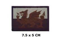 Neues AngebotWalisischer Drache Wales Flagge Bestickt Gewebt Patch - Velcrobacked