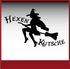 Aufkleber/ Sticker / Dekor / Hexenkutsche / #094
