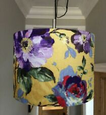 30cm Drum Lampshade Pendant Luxury yellow mustard gold red/purple floral fabric