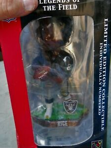 """OAKLAND RAIDERS JERRY RICE  #80  8"""" BOBBLE HEAD PLAYERS , NEW IN BOX SINCE 2008"""