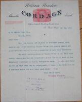 St. Paul, MN 1892 Color Letterhead: William Winslow Cordage - Minnesota Minn