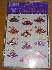 Hallmark Heartline Sparkly Stickers Princess Crown Wand NIP Free Ship Over $15
