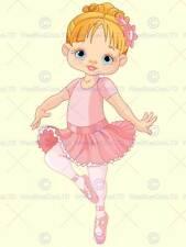Nursery BALLERINA BALLERINA ROSA TUTU Bambini Camera Da Letto ARTE POSTER mp4292b