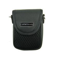 Universal Digitalkamera Tasche mit Gürtelschlaufe und Tragegurt in schwarz