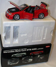 MERCEDES-BENZ CLK DTM AMG Cabriolet 1:18 KYOSHO Rosso 08462R NUOVO IN SCATOLA