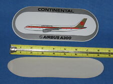 Continental Airlines A-300, Airbus A300 aviation aircraft ORIGINAL decal sticker