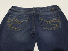 Womens Silver Jeans Lola Stretch Boot cut distressed dark Wash Sz 29 / 33