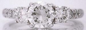 Gorgeous EGL $6625 14k White Gold 1.18ctw VVS2 Round VERY Brilliant Diamond Ring
