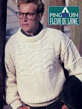 Pingouin Knitting Pattern - Fleur De Laine - 3 Sweater Patterns