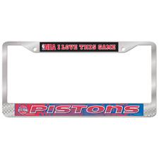 DETROIT PISTONS NBA License Plate Frame Brand New