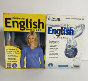 Learn To Speak English With Instant Immersion Bundle Of 2 Deluxe & Levels 1-3