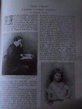 Lewis Carroll Dodgson Alice Liddell Adventures Manuscripts Rare Old Article 1898
