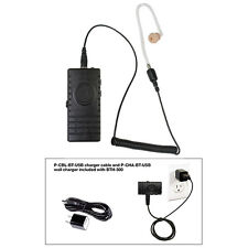 Pryme BTH-300-KIT3 BT Mic w/ Bullet Clear Tube Earphone for Radios + Cell Phones