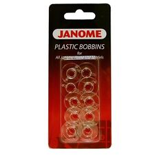 Janome Plastic Bobbins - Pack 10 Genuine Janome Bobbins (200122005)