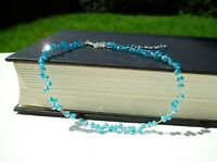 Floating Sky Blue Crystal Illusion Necklace Bridal Waterfall Necklace Birthday